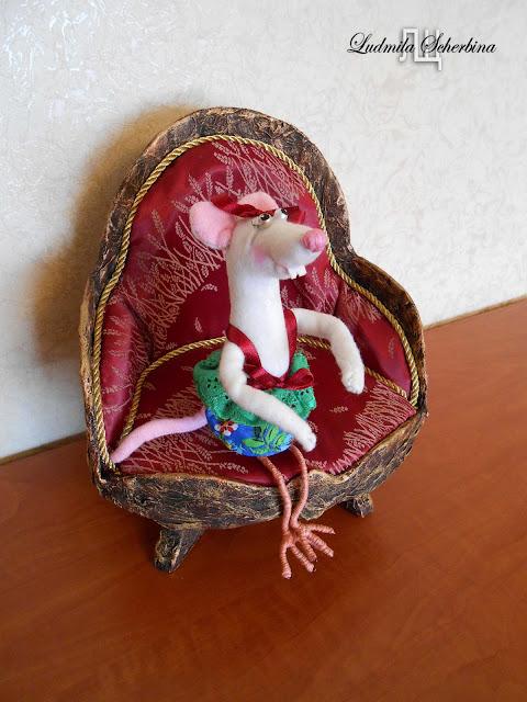 мягкая игрушка белая крыса