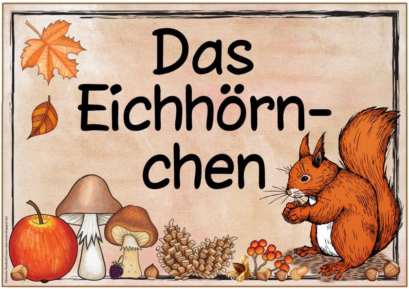Ideenreise Blog Zwei Neue Themenplakate Der Apfel Das Eichhörnchen