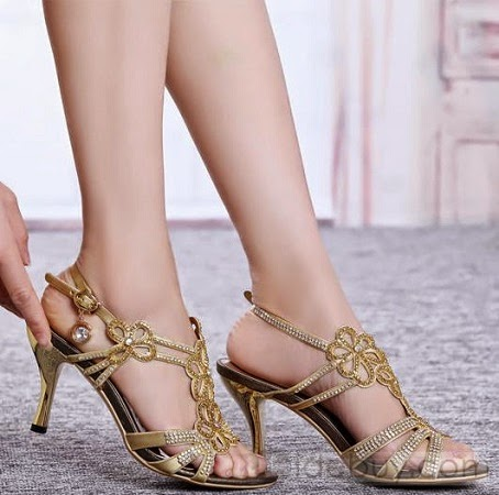 New Arrival High Heel Luxurious Rhinestone Wedding Shoes