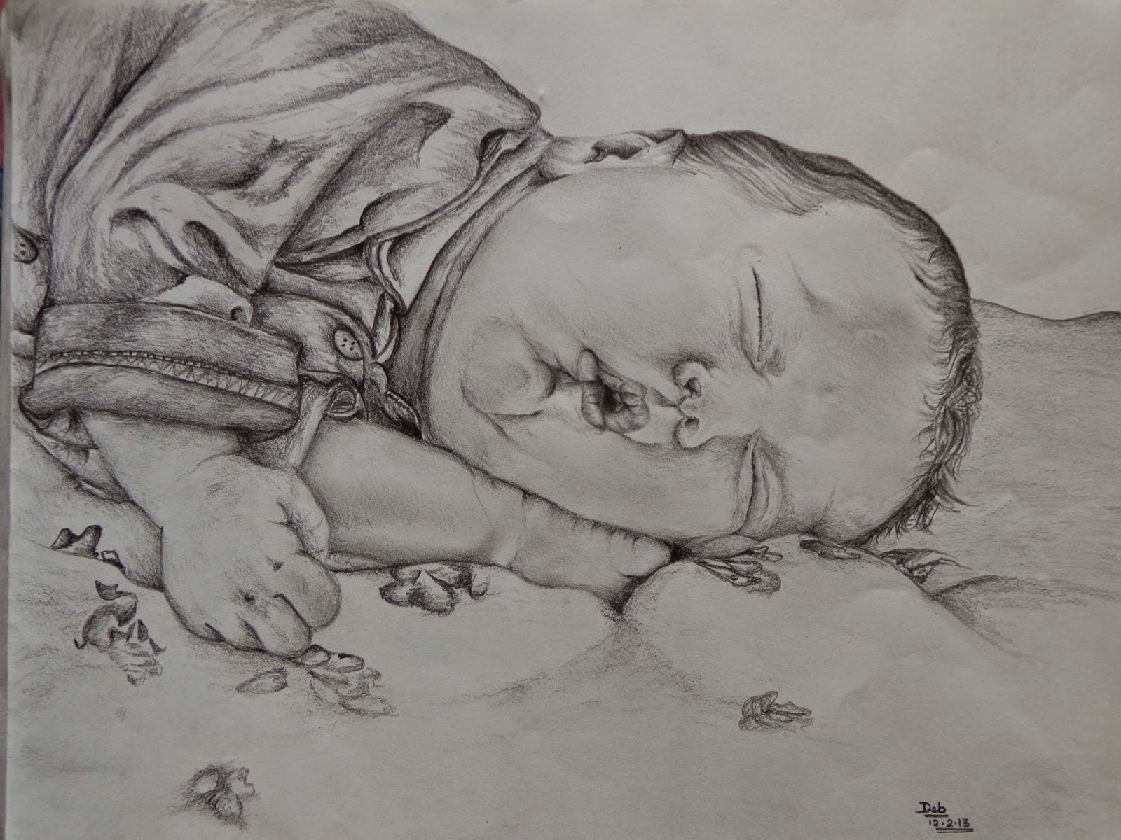 sketch of a baby