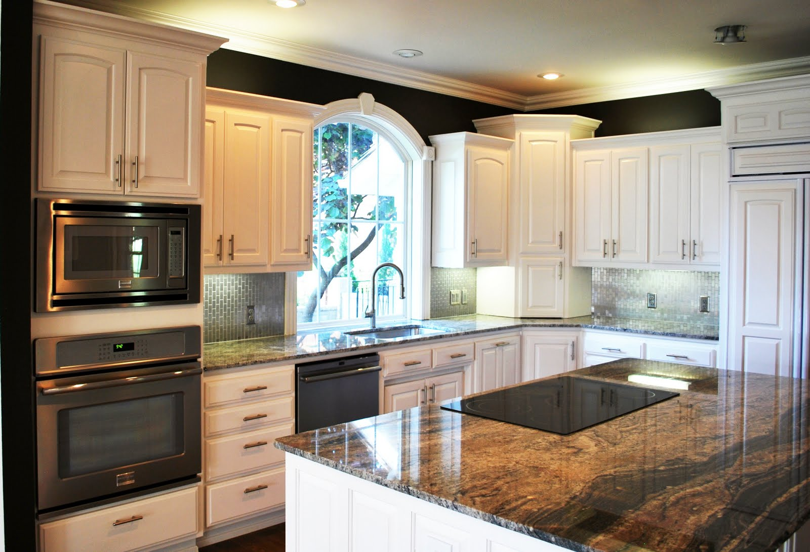 Black favorite paint colors blog for Black and white painted kitchen cabinets