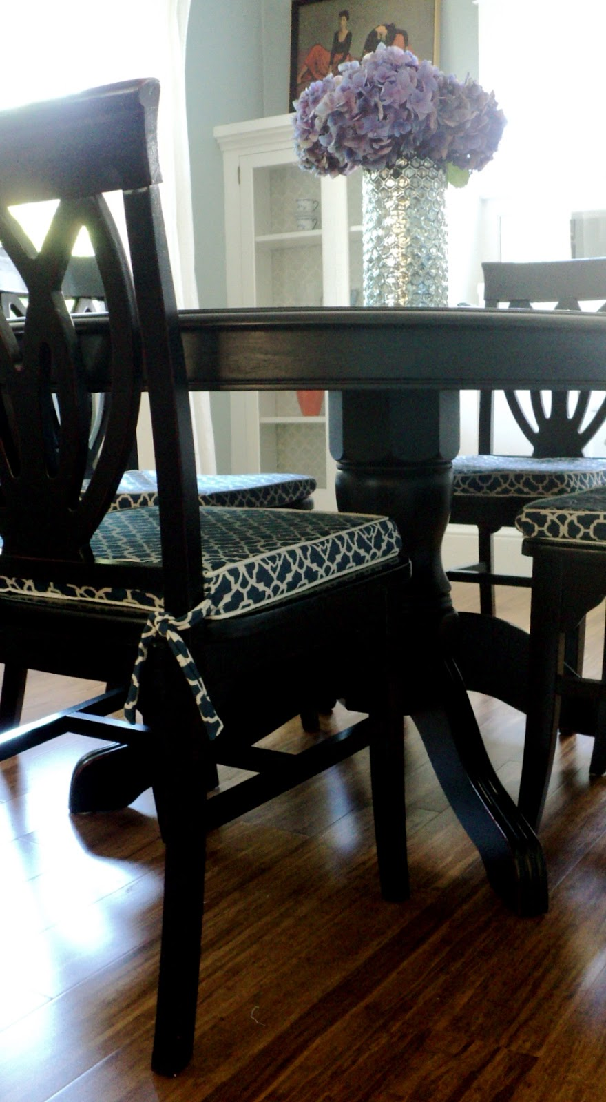 Dining room chair cushion slipcover tutorial living in the rain garden - Cushioned dining room chairs ...