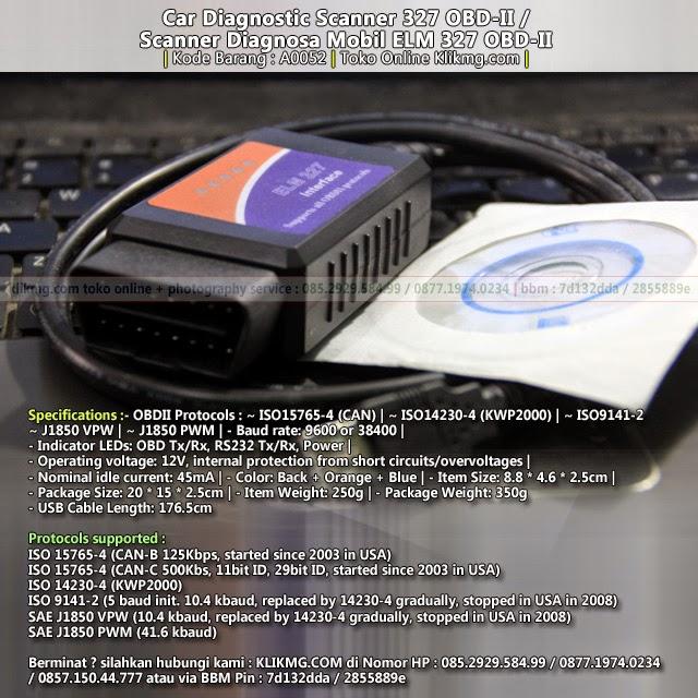 Car Diagnostic Scanner / Scanner Diagnosa Mobil ELM 327 OBD-II | Kode Barang : A0052 | Toko Online Klikmg
