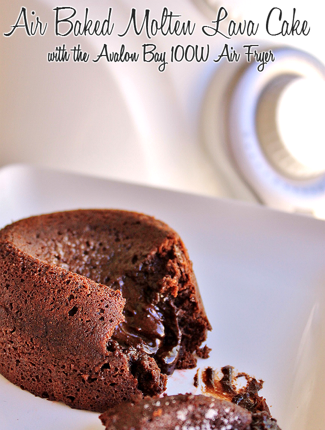 Blog POP! Air Baked Molten Lava Cake Recipe + Avalon Bay Air Fryer 100W Giveaway 4/10