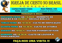 IGREJAS PARCEIRAS :