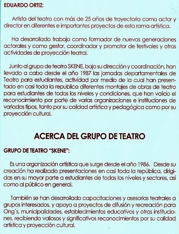 EDUARDO ORTIZ (Actor, Director y Docente Teatral): CURRÍCULUM ...
