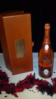 bottle of cristal champagne