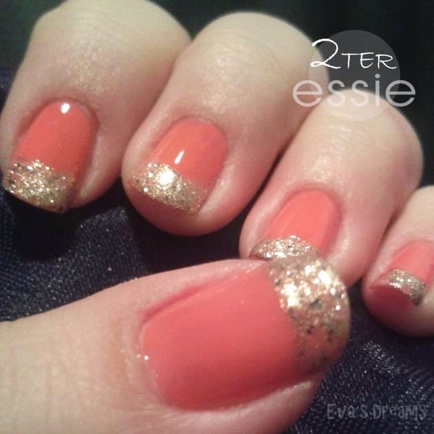 Nails of the (last) week: Nail art - Essie in love with Gold