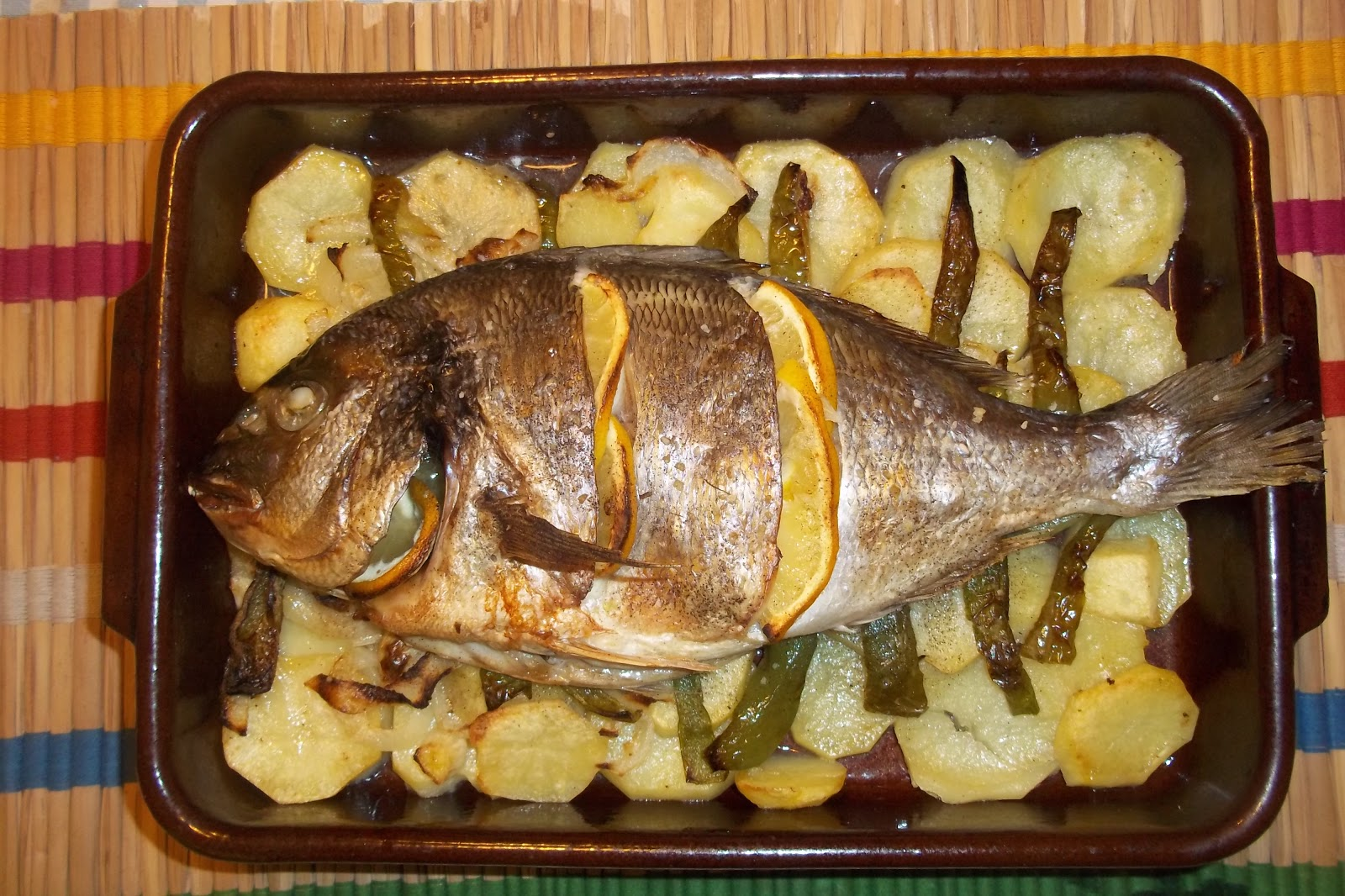 Dorada al horno con patatas cocinar con ciencia for Cocinar 180 grados