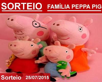 Participe do Sorteio de um Lindo Kit Família Peppa Pig de Pelúcia