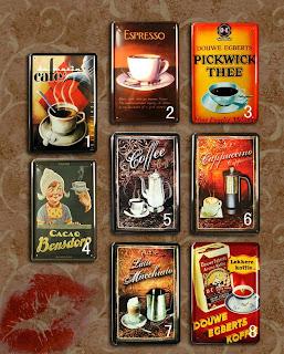 pósters café vintage