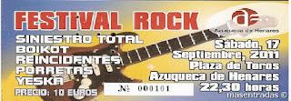 entrada festival rock