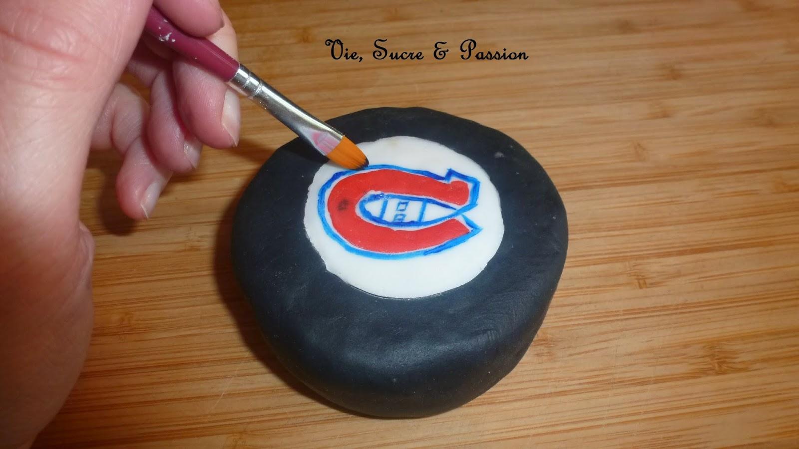 Rondelle de Hockey en fondant (Canadiens de Montréal)