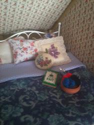 Viv's bed