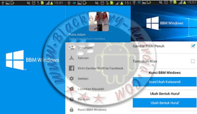 BBM Mod Tema Windows Style v2.9.0.51 Apk Backup Free Sticker