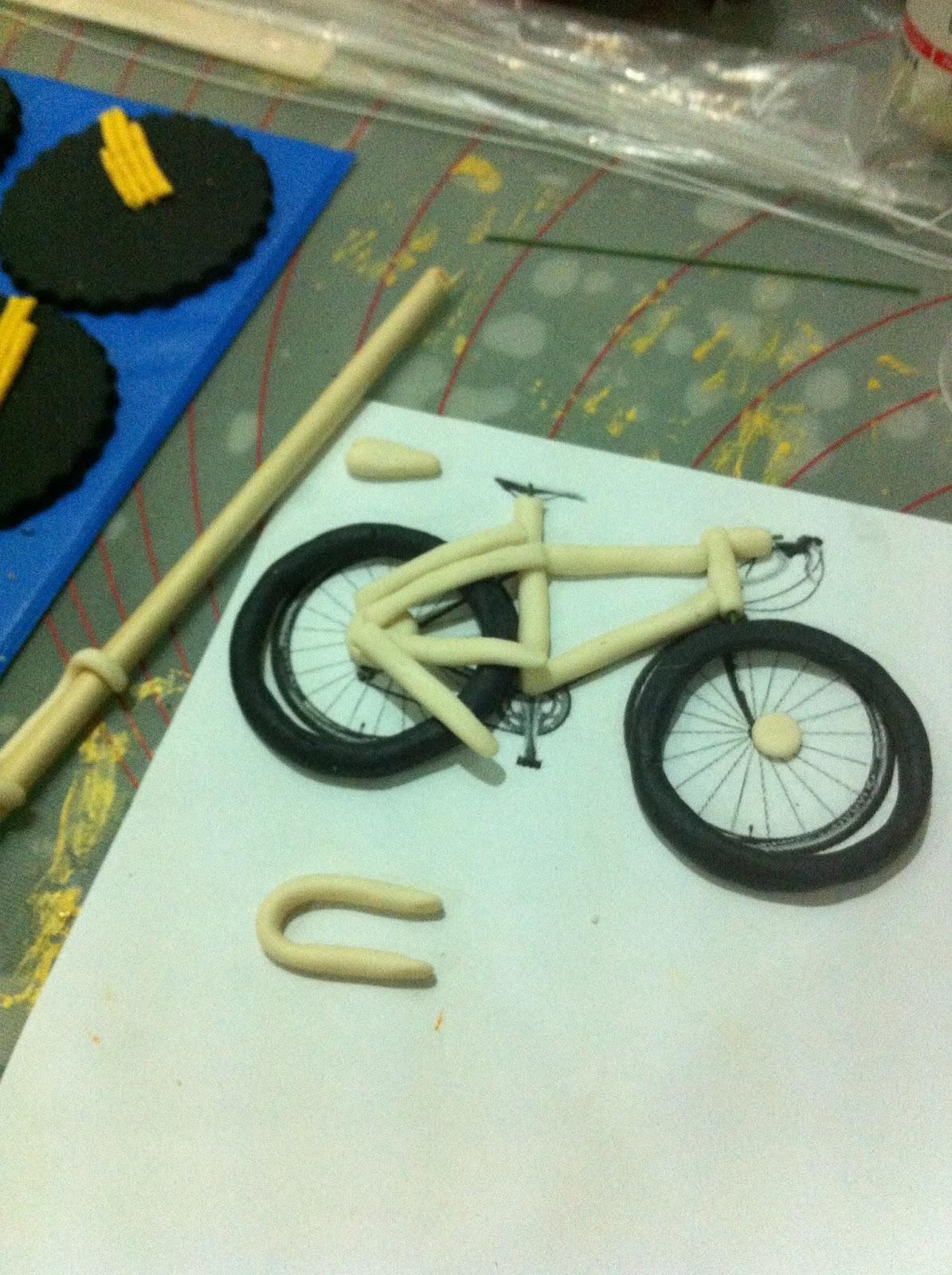 Bicycle Shaped Cake