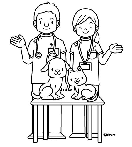 Veterinarian Coloring Pages