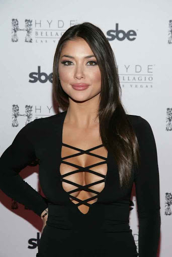 Arianny Celeste sexy cleavage in UFC 194 After Party red carpet dresses photos