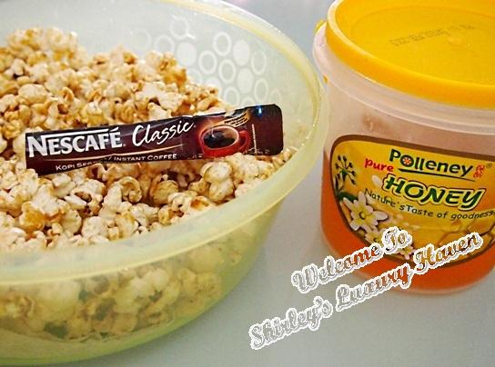 happy call nescafe coffee popcorn recipe