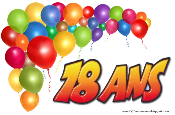 Connu Texte anniversaire 18 ans | Amourissima - Mots d'amour -SMS d'amour OR06