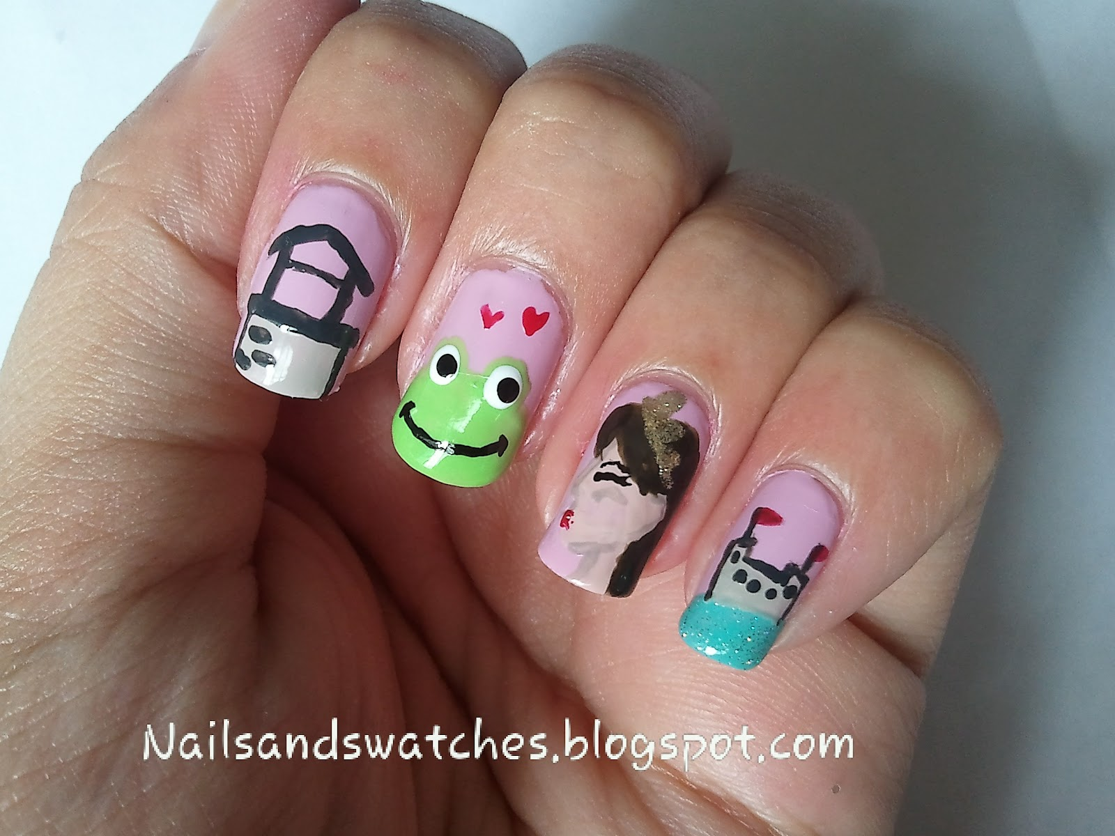 Nails and Swatches: Nail Art Competition: The Princess and the Frog