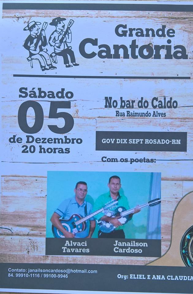 CONVITE DE CANTORIA!!