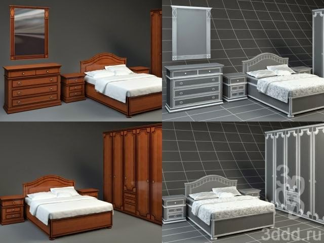 موديلات 3d لسرير النوم وأشكال مختلفة FRATELLI+ROSSETTO_CA
