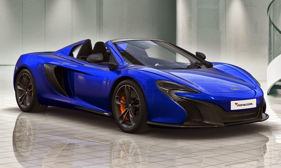 McLaren 650S Spyder Blue