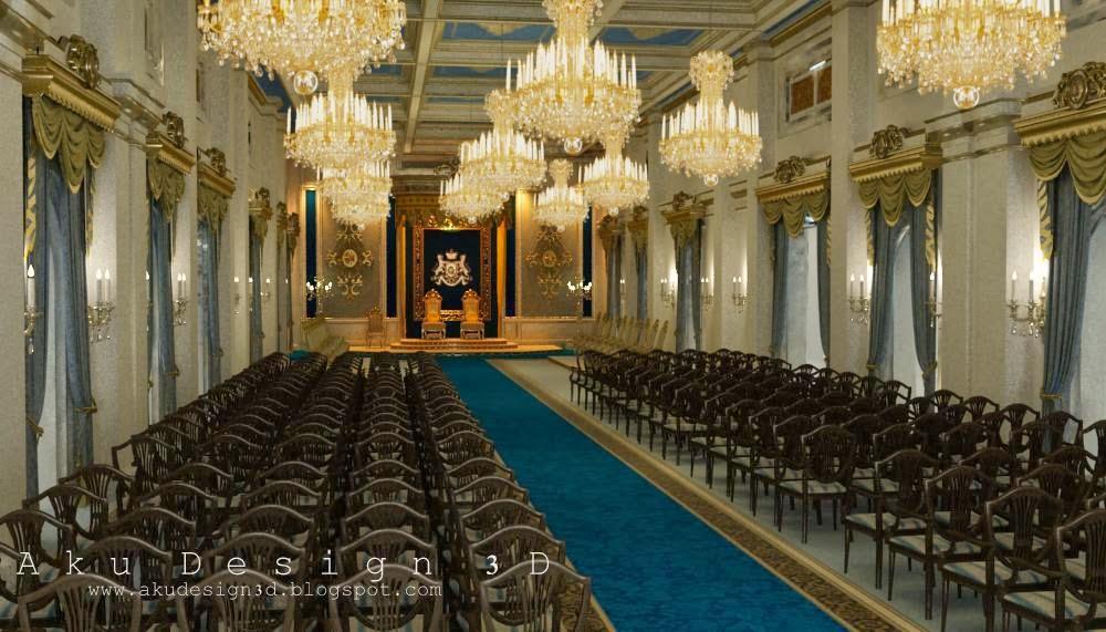 Aku design 3d grand palace of johor bahru throne hall for Grand designs 3d renovation interior