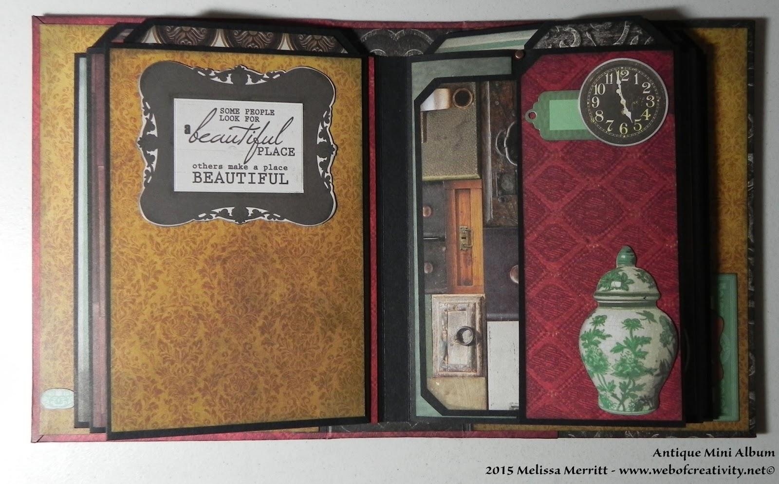 web of creativity antique mini album