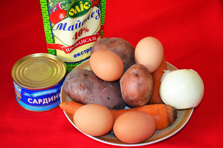 Салат Мимоза: продукты