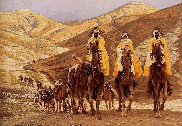 'El viaje de los Magos' (1894), Jacques-Joseph Tissot (1836-1902), pintor francés.
