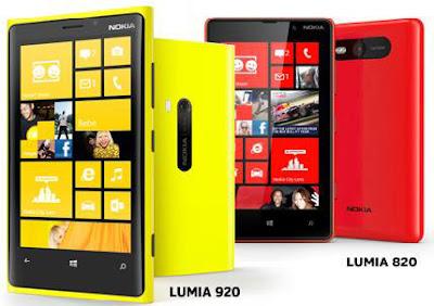 Harga Nokia Lumia 920 Dan 820