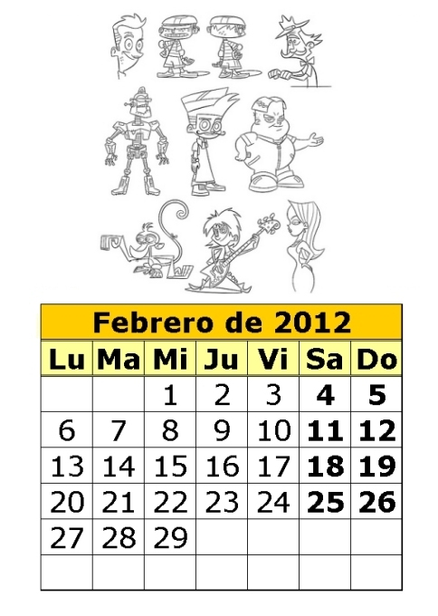 Calendario de Johnny Test del 2012 (1ª parte) : Calendarios para ...