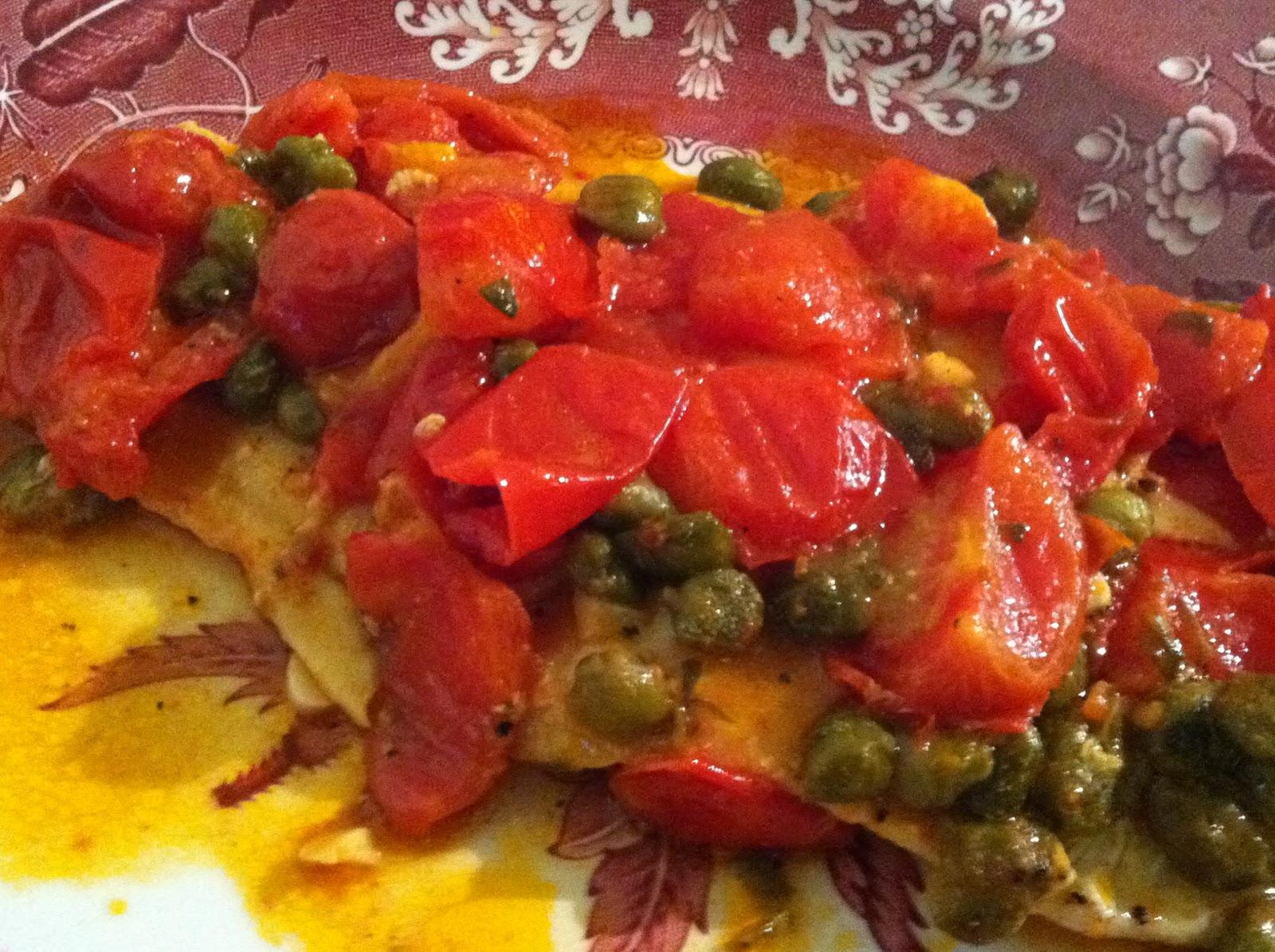 Golosando serenamente merluzzo con capperi e pomodorini - Cucinare merluzzo surgelato ...