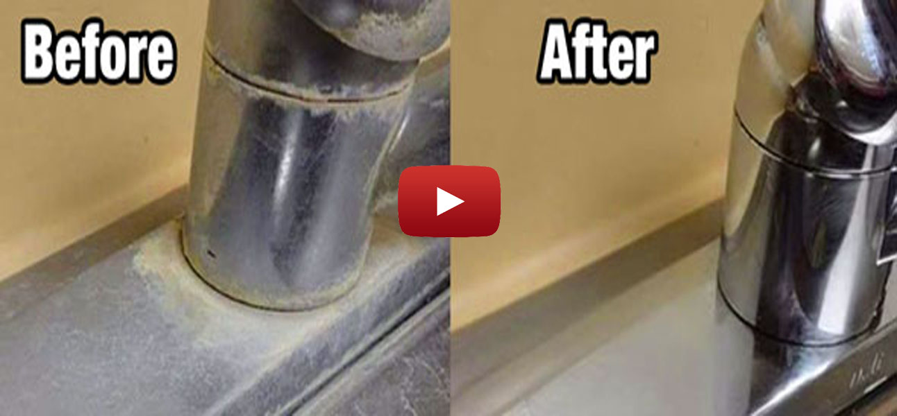 The Simple Way To Remove Ugly Water Deposits On Your Faucets And ...