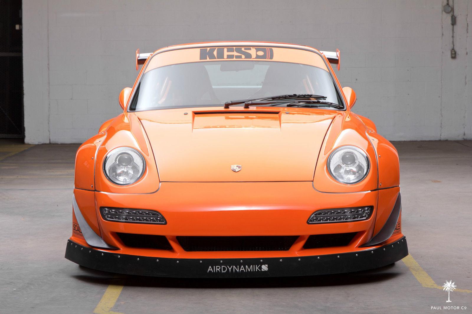 Crazy Widebody Corvette Powered 1995 Porsche 911 Hits