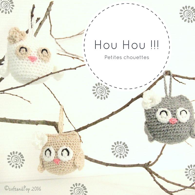 chouette, crochet, amigurumi, doudou, Soft & Pop