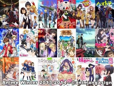 banyak seri anime yang rilis di winter tahun ini ada sekitar 40 anime