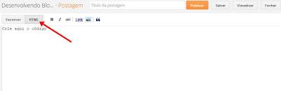 html de páginas e postagens