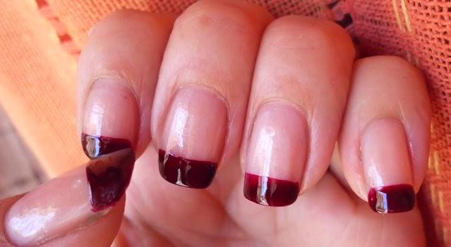 manicura francesa roja