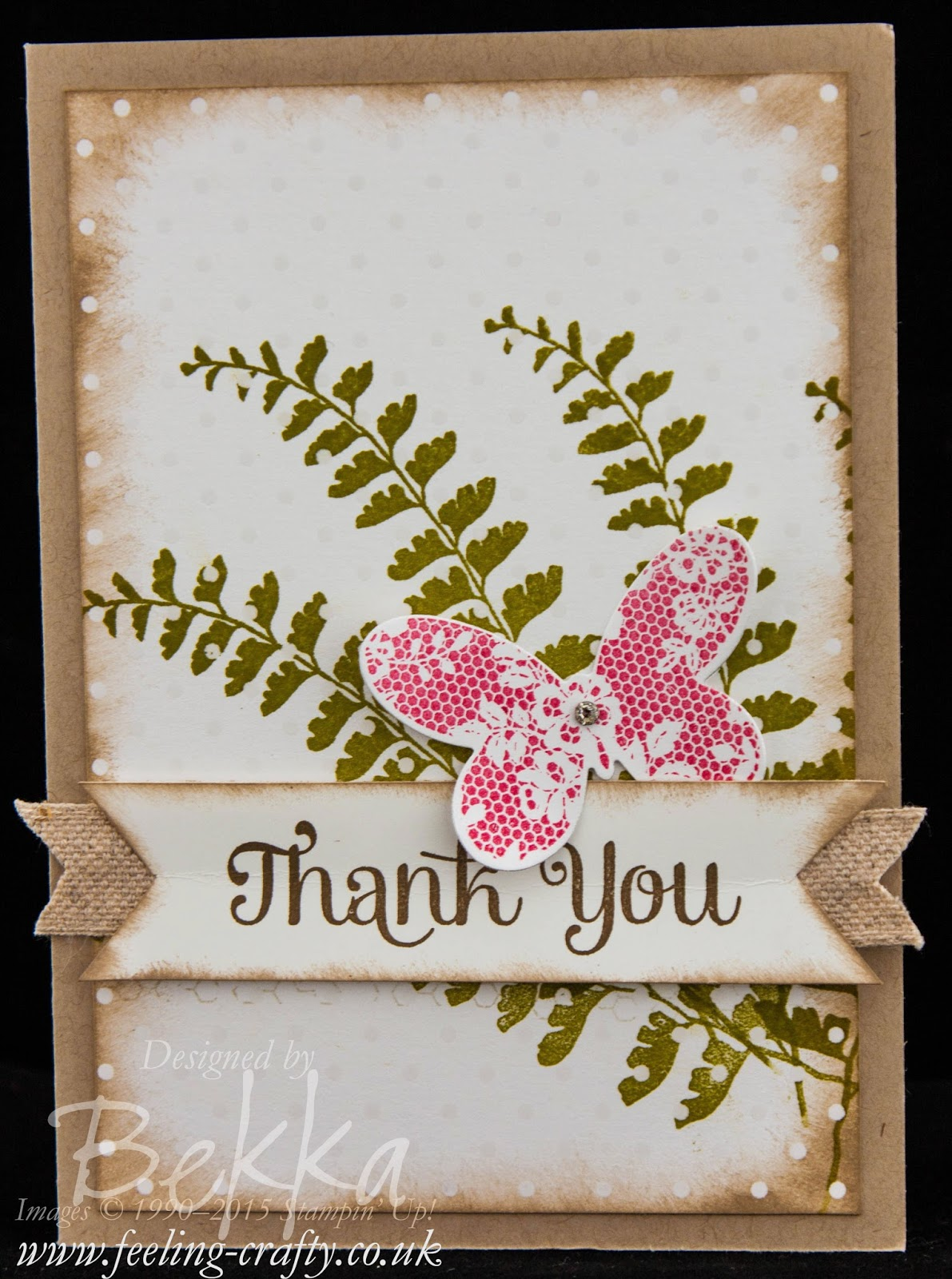 Irresistibly Yours Butterfly Basics Thank You Card - check it out here
