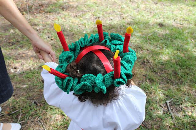 Times 3 Adventchristmassanta Lucia Wreath Crochet Pattern