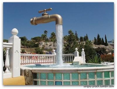 Фото: фонтан, парящий над землей