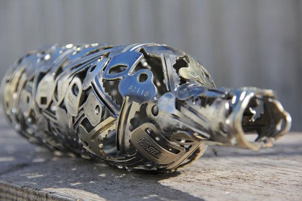 Incríveis esculturas feitas com chave por Moerkey