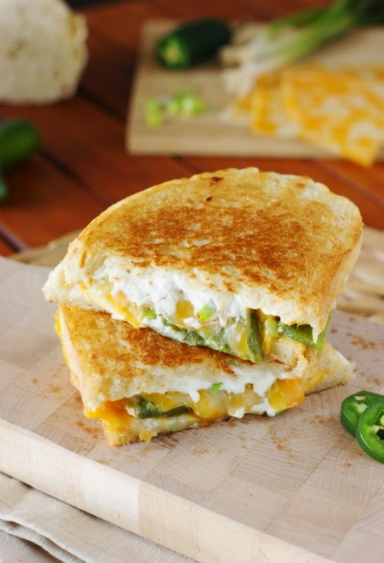 Jalapeno Popper Grilled Cheese - The Kitchen is My Playground