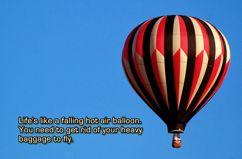 life is like a falling hot air balloon