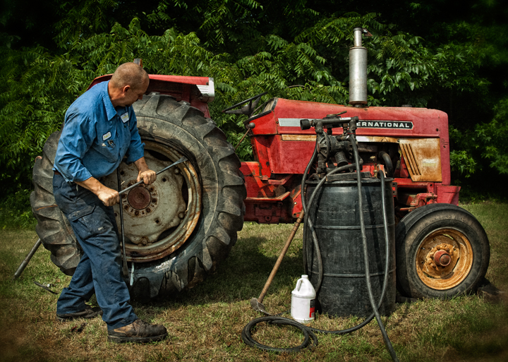 routh photography tractor tire