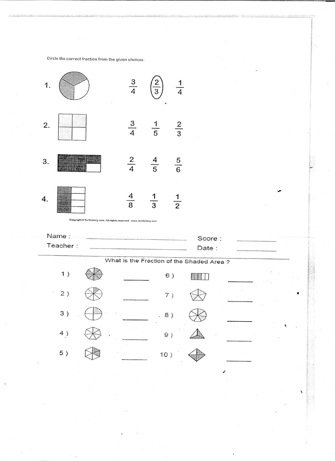 Tripurasundari: Class III Maths Holiday Home work