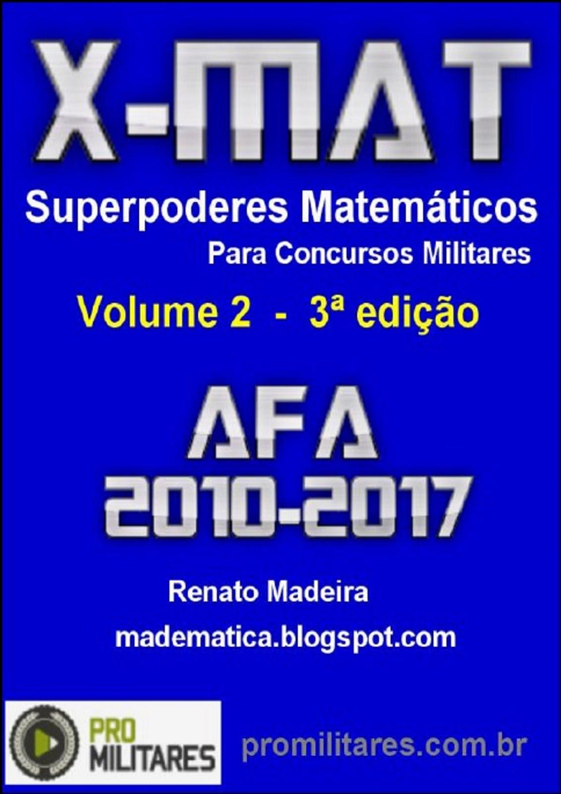 Livro X-MAT AFA 2010-2017 (versão impressa)